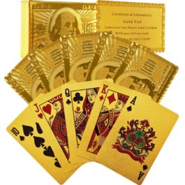 24 Karat Gold Foil PLAYING CARDS by Blinkee