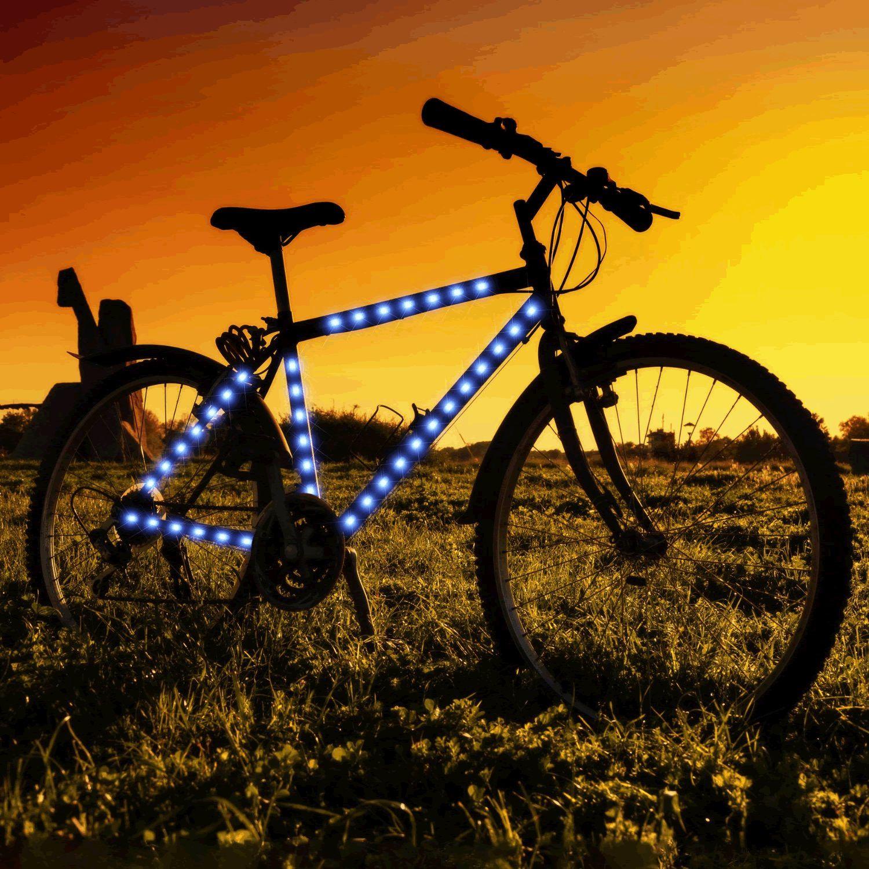 Bike Frame LED Strip Tape Blue by Blinkee