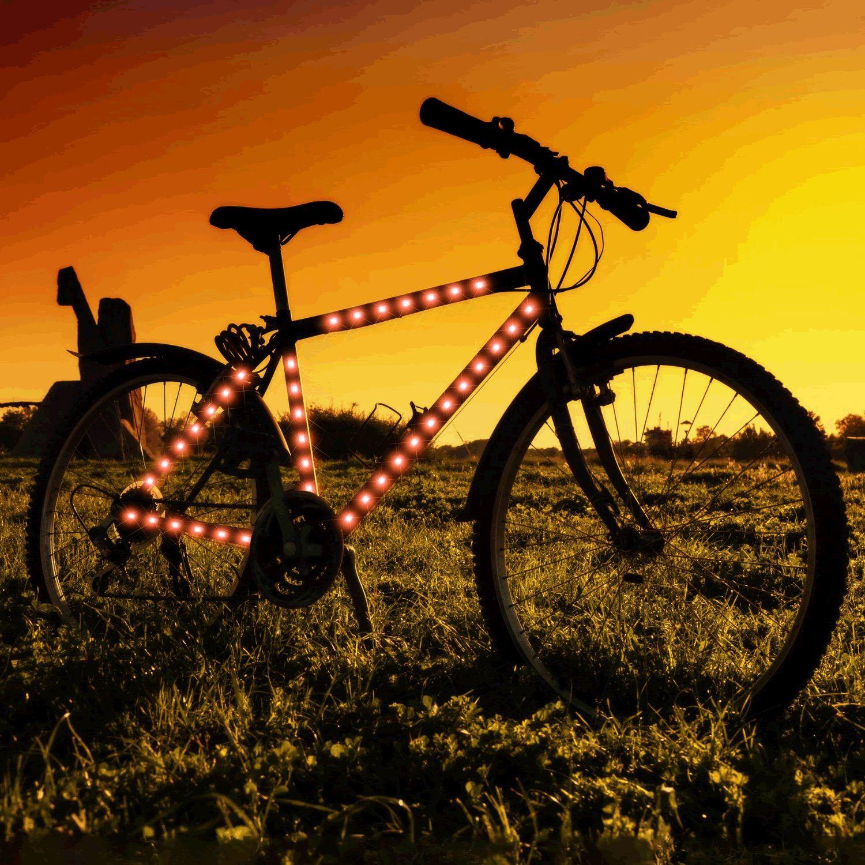 Bike Frame LED Strip Tape Red by Blinkee