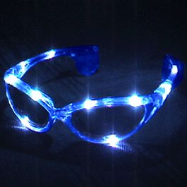 Blue LED SUNGLASSES by Blinkee