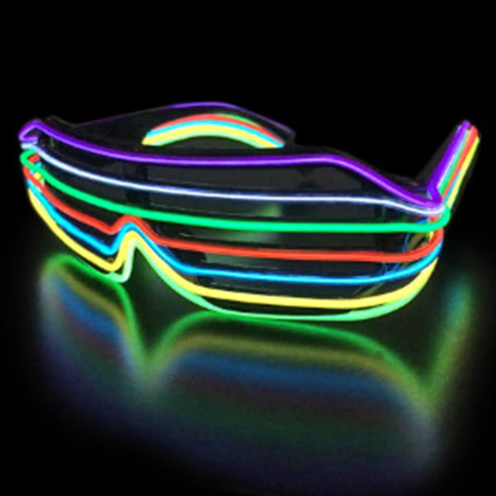 Electro Luminescent Rainbow Shutter Shades by Blinkee