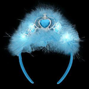 Flashing Blue Princess TIARA by Blinkee