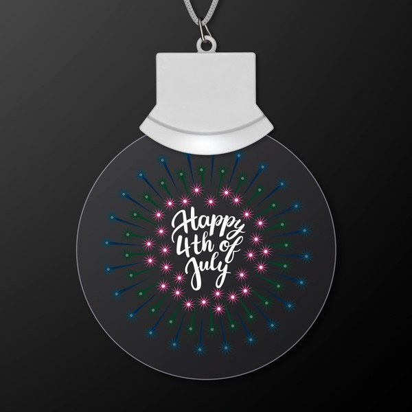LED Fourth of July Animated FIREWORKS Acrylic Pendant Party Necklace by Blinkee