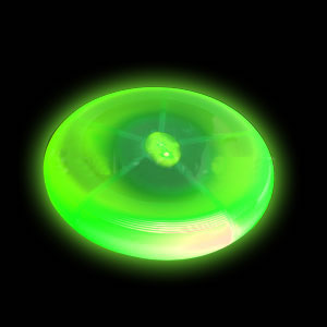 Green 8 Inch LED FRISBEE Flying Disc For Night Golf