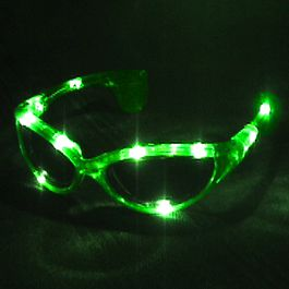 Green LED SUNGLASSES by Blinkee