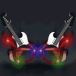 Guitar LED SUNGLASSES Red by Blinkee