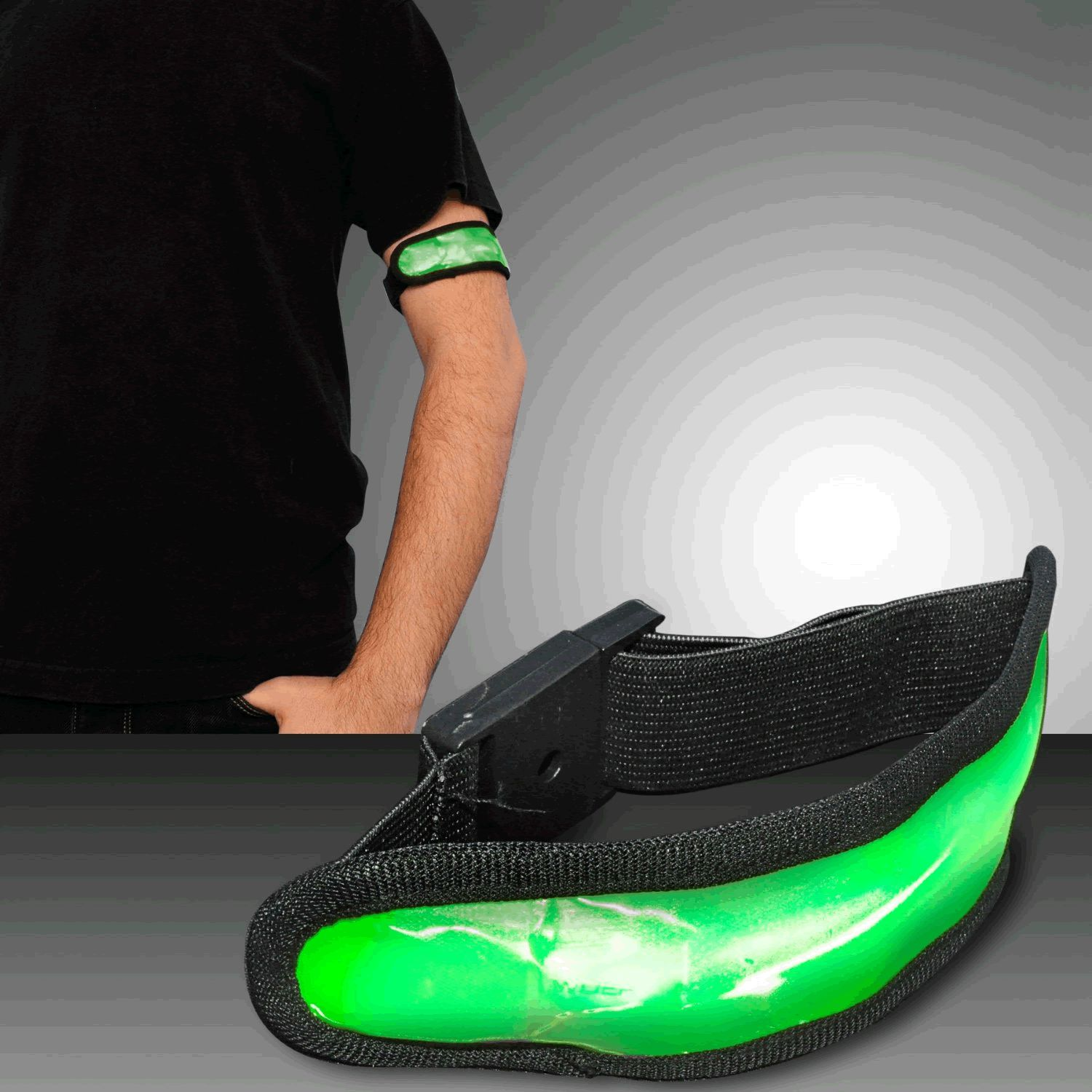 Jogging Bicycling LED Armband Green by Blinkee