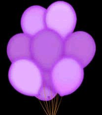 LED BALLOONs Five Pack Purple