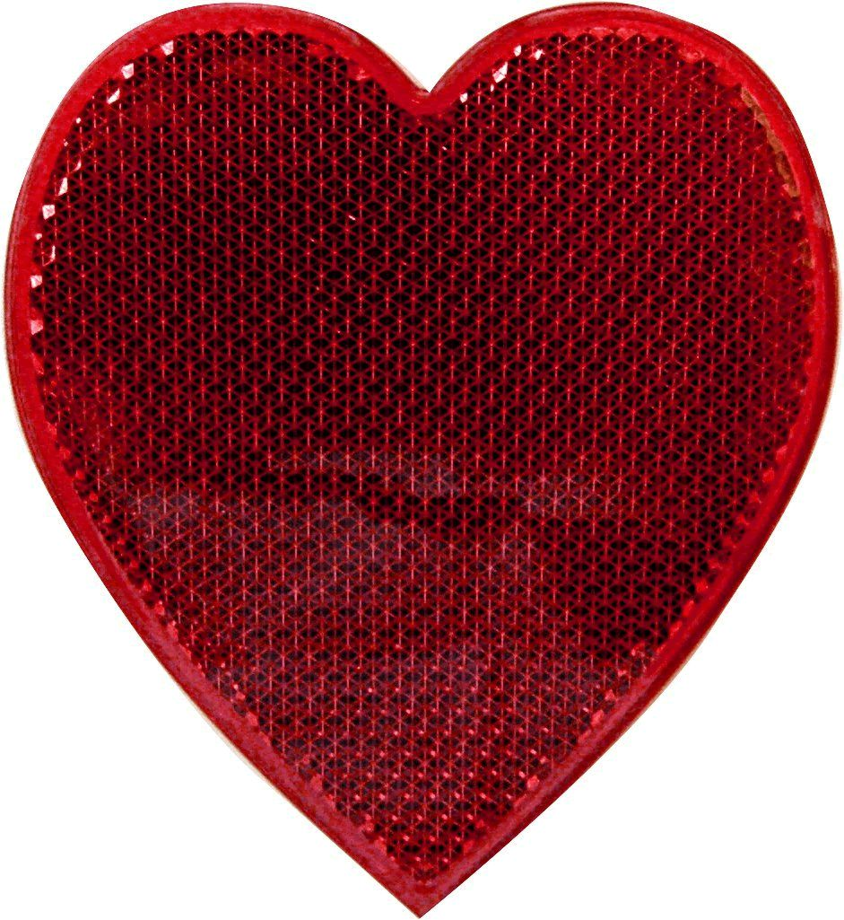 LED Blinking Red Heart Reflector Clip by Blinkee
