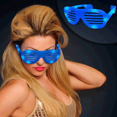 LED Hip Hop SUNGLASSES Blue by Blinkee
