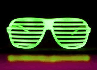 LED Hip Hop SUNGLASSES Green by Blinkee