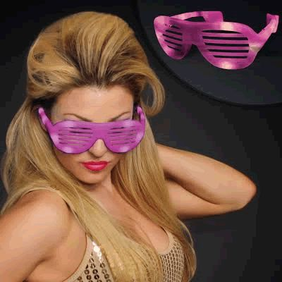 LED Hip Hop SUNGLASSES Pink by Blinkee