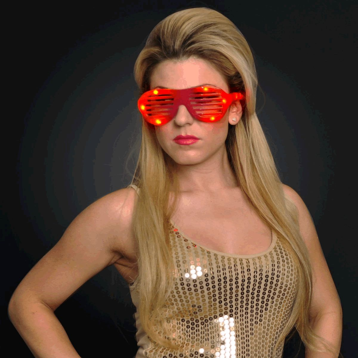 LED Hip Hop SUNGLASSES Red by Blinkee