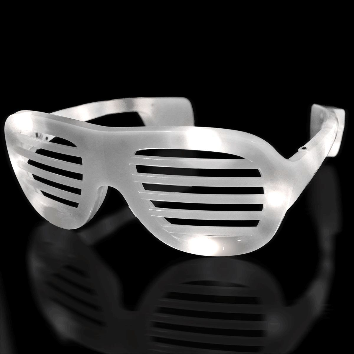 LED Hip Hop SUNGLASSES White by Blinkee