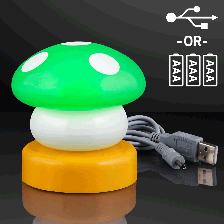 LED Mario Mushroom USB LAMP Green