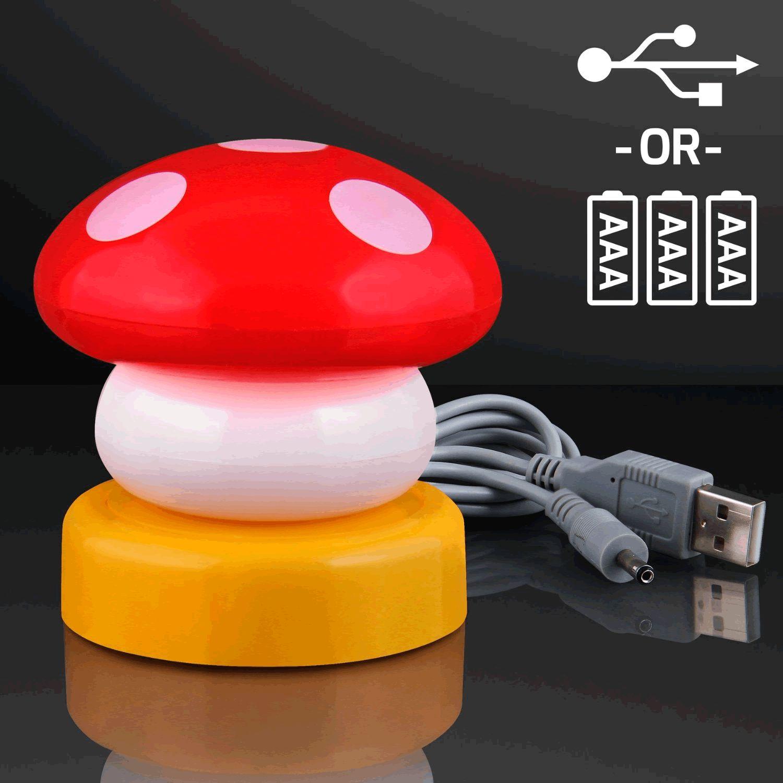 LED Mario Mushroom USB LAMP Red