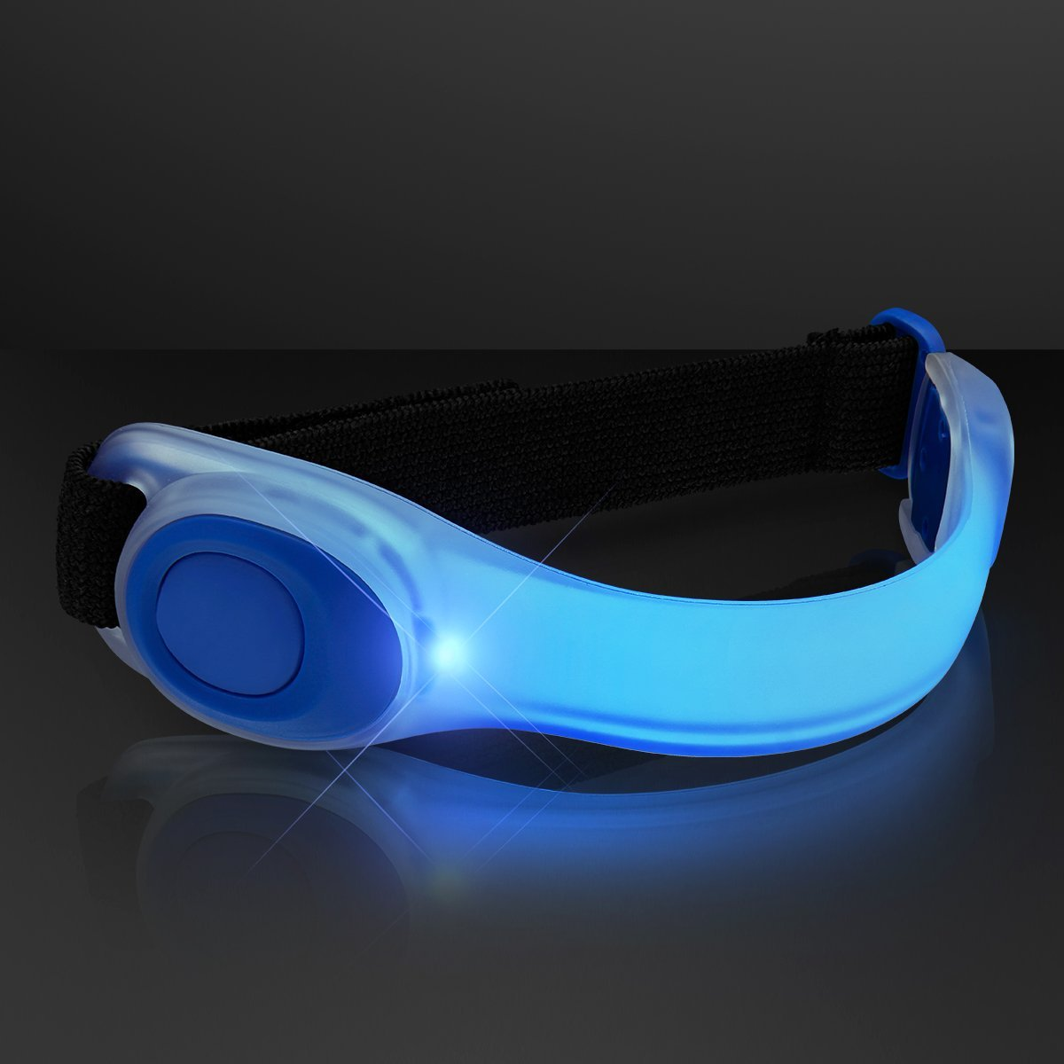 Deluxe LED Night Light Safety Jogging Bicycling Armband Blue by Blinkee
