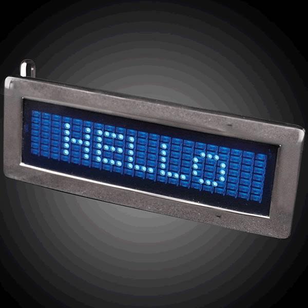 LED Programmable Scrolling Text BELT BUCKLE