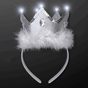 LED White TIARA Crown Headband by Blinkee