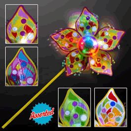 Light Up Spinning Pinwheel Assorted by Blinkee