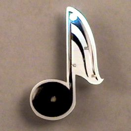 Music Note Flashing BODY Light Lapel Pins by Blinkee