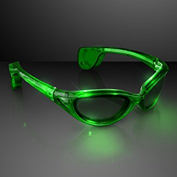 Premium Green LED SUNGLASSES by Blinkee