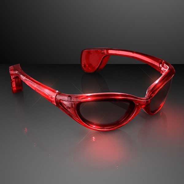 Premium Red LED SUNGLASSES by Blinkee