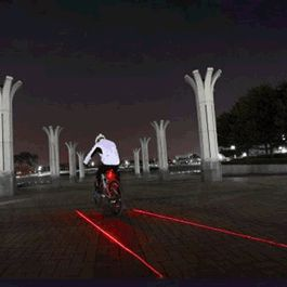 Red Bike Light with Ground Illuminating Lasers by Blinkee