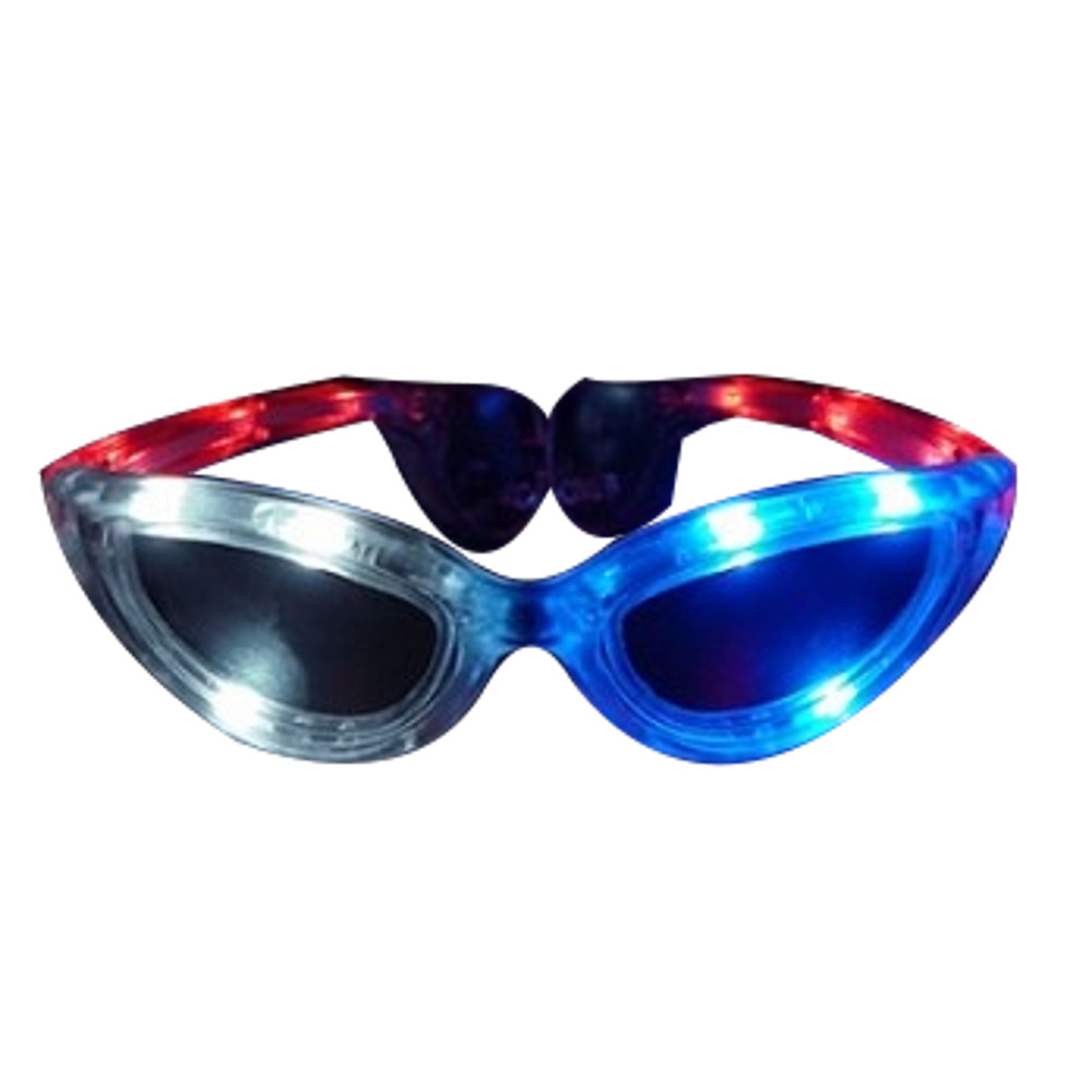 Red White Blue LED SUNGLASSES by Blinkee