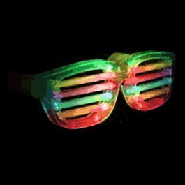 Rock Star Shutter Shades SUNGLASSES Multicolor by Blinkee