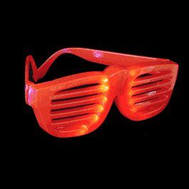 Rock Star Shutter Shades SUNGLASSES Red by Blinkee