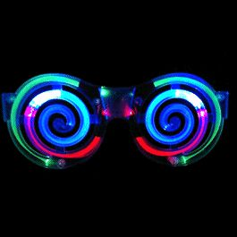 Spiral LED SUNGLASSES by Blinkee