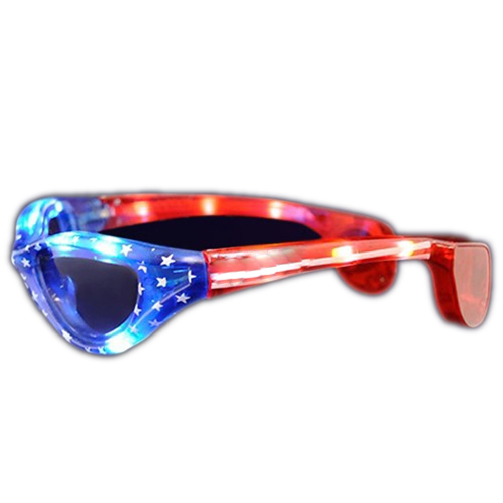 USA Stars and Stripes LED Fourth of July SUNGLASSES by Blinkee