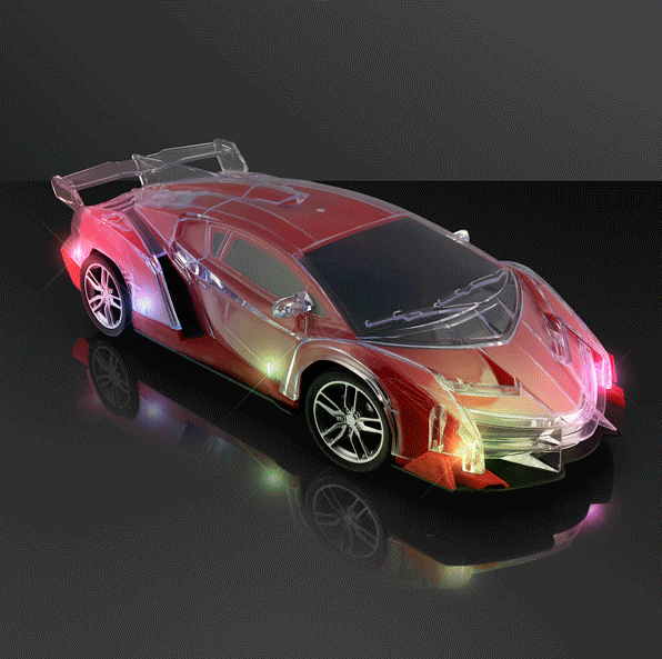 Multicolor LED Flashing Red Racing CAR with REMOTE CONTROL