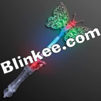 Transparent-LED-Butterfly-Wand