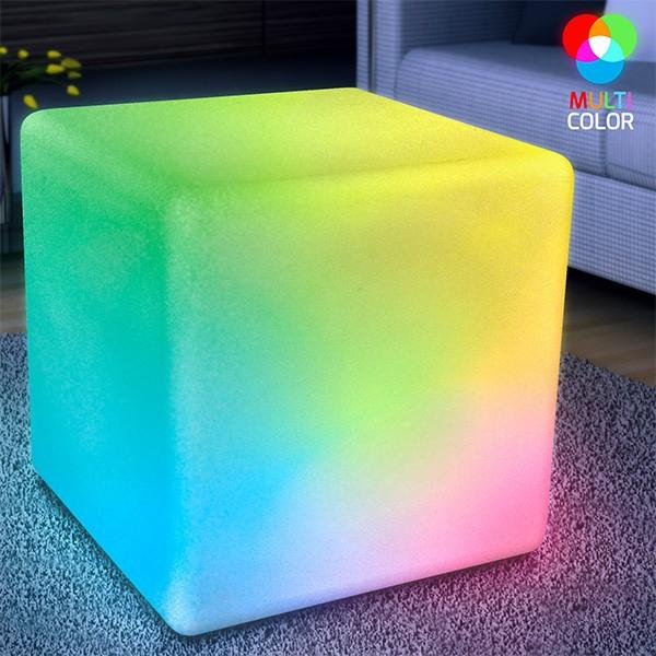 Huge LED Cube Light CHAIR Stool Table Furniture   Rainbow   Blinkee