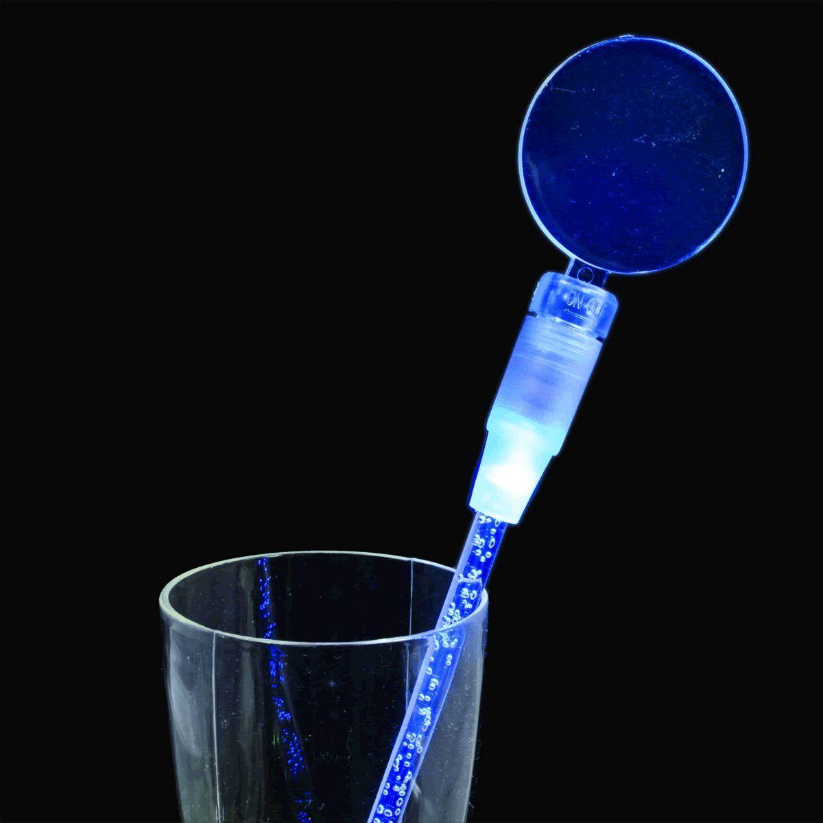 Blue Cocktail Party Light Up Swizzle Stick Drink Stirrer | Blinkee