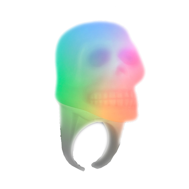 Multicolor Glow LED Skull RING | Orange | Blinkee