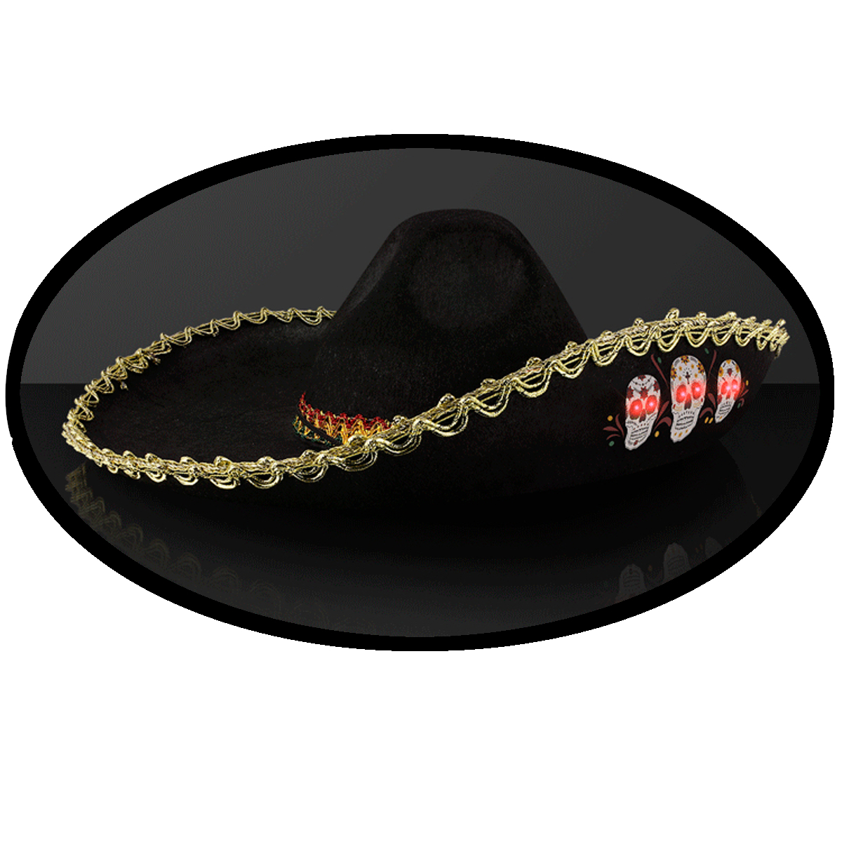 Wholesale Costume Now Available At Central Items 1 40 Ifrogz Little Rockers Headphones Lion Black Light Up Oversize Sombrero Skull Hat With Gold Brim