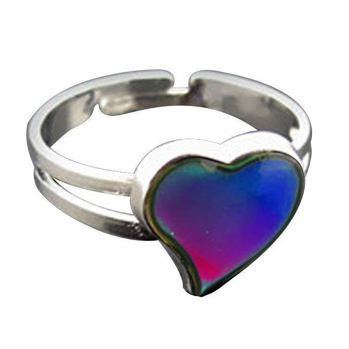 Sweet Heart Shaped Mood RING Adjustable | Rainbow | Blinkee