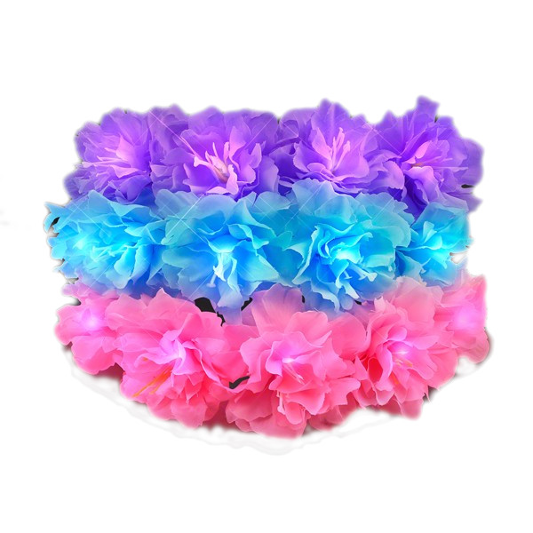 Light Up Spring Blossom Summer WEDDING Flower Crown Pack of 12 | Blue | Blinkee