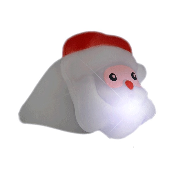 Santa Claus LED Light Up Soft Christmas Jewelry RING for Parties | White | Blinkee