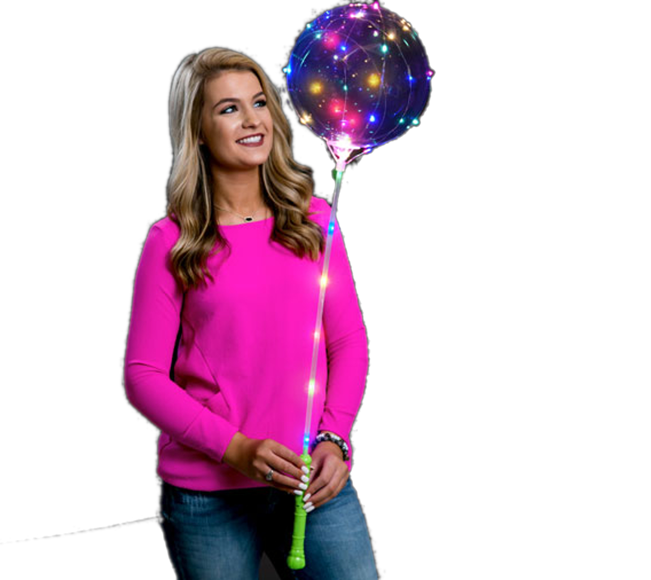 24 Inch Light Up Multicolor Lollipop BALLOON | Blinkee