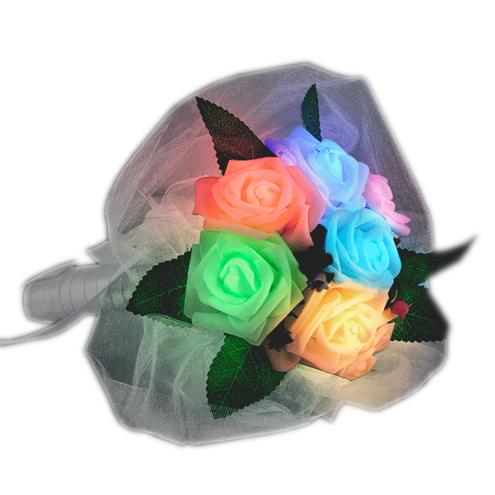 Light Up Flower Bouquet for WEDDING | Rainbow | Blinkee