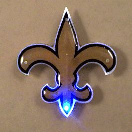 New Orleans SAINTS Officially Licensed Flashing Lapel Pin | Rainbow | Blinkee