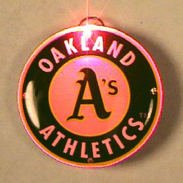 Oakland Athletics Officially LICENSED Flashing Lapel Pin | Rainbow | Blinkee