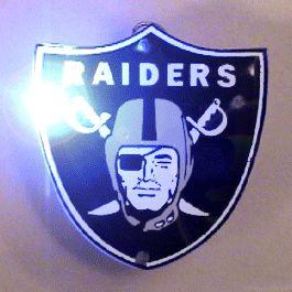 Oakland Raiders Officially LICENSED Flashing Lapel Pin | Rainbow | Blinkee