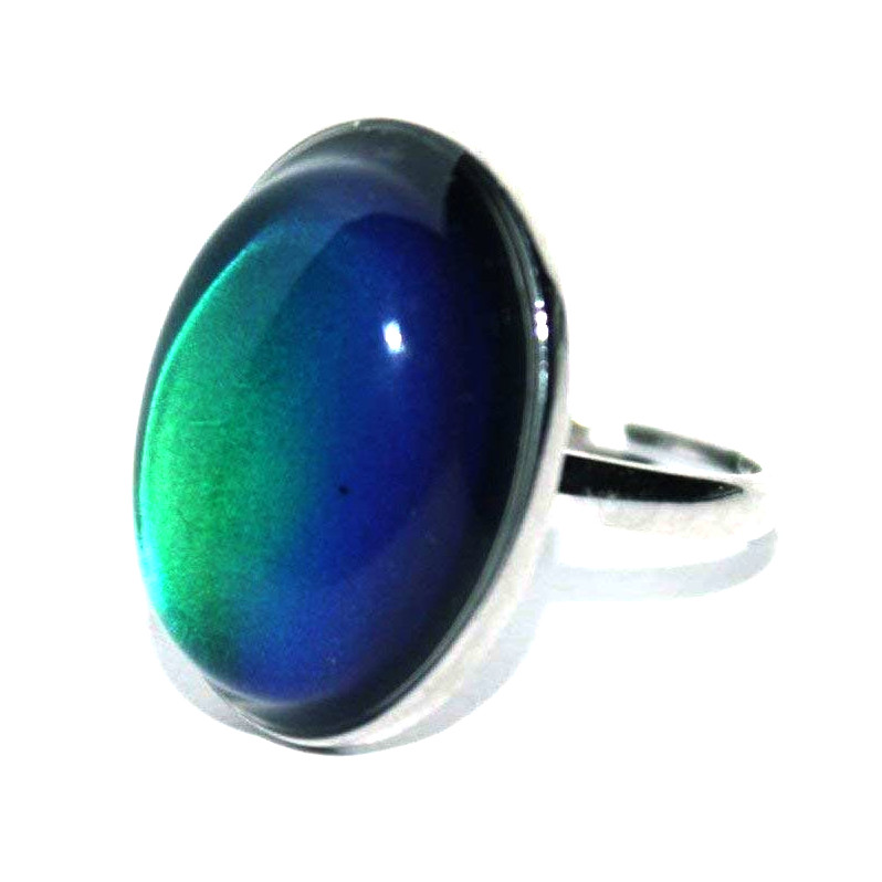 Adjustable Oval Mood RING | Rainbow | Blinkee
