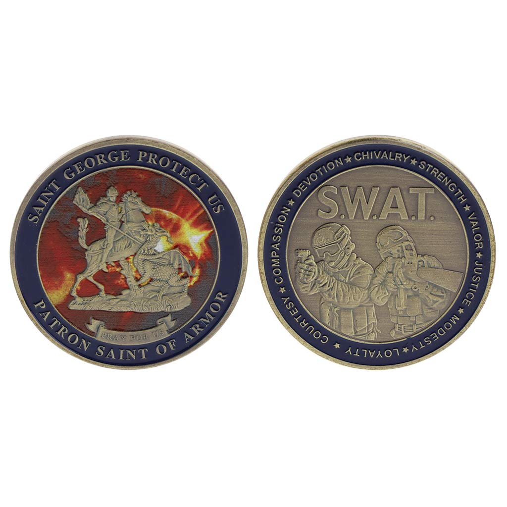 SWAT SAINT George Commemorative Coin   Blinkee