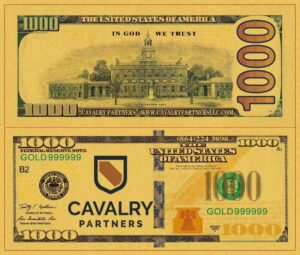 Custom Replica 24K Gold Plated 100 Bill